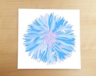 Illustrated cards - hand drawn card - flower card - illustration - cornflower - blank cards - greeting card - thank you card - birthday card