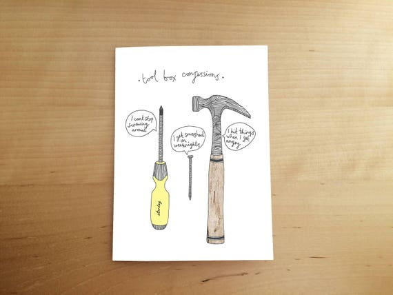 Illustrated Hand Drawn Card Fathers Day Funny
