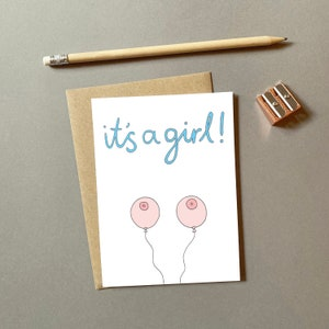 Congratulations Baby Cards Handmade Congrats On The Mini Me It\u2019s A Boy Baby Cards Funny Baby Catds