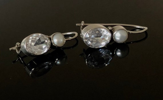 Art deco bridal earrings - art deco jewellery - to