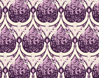FABRIC Tula Pink Parisville Sea of Tears lavendar purple scrap rare oop htf
