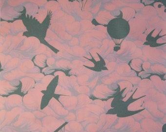 FABRIC Tula Pink Bumble Cotton Candy Cloud jade FQ OOP destash fat quarter rare htf