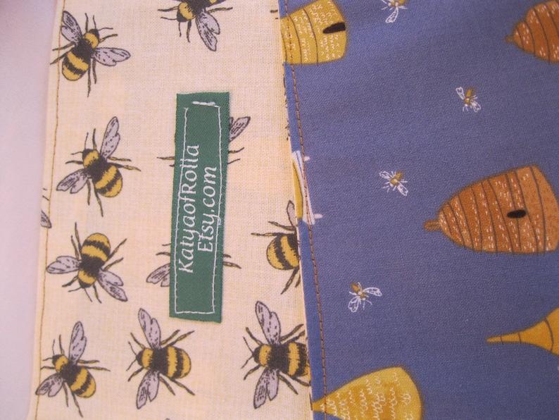 Skep Beehive on Blue Market Bag  Bees Beekeeper