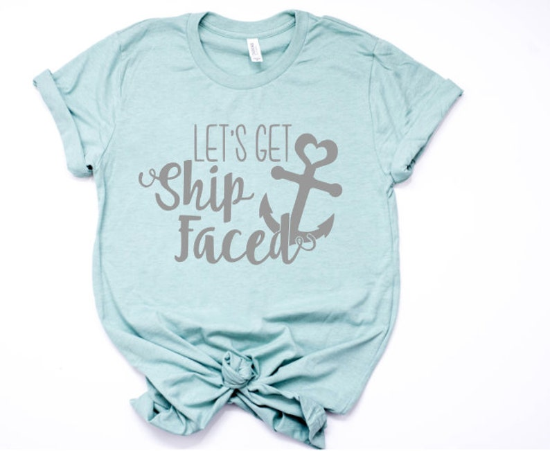 71bab91e9 Lets get shipfaced shirt Cruise Tank TopCruise Shirts Funny | Etsy