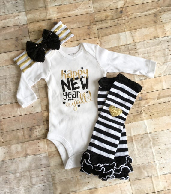 9b597249c2c5 New Years Eve baby Outfit