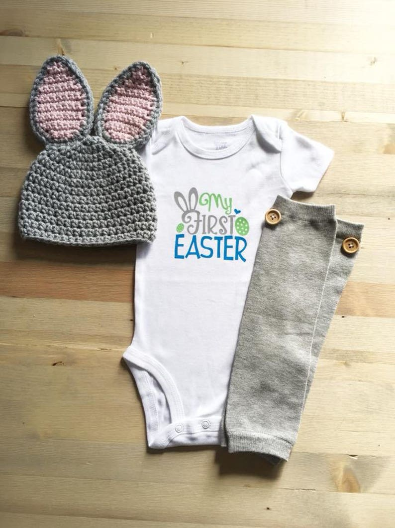 4e9815dbd Newborn Boy Easter Outfit My First Easter Easter Bunny | Etsy