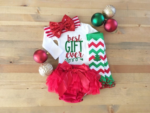 bodysuit Merry Christmas girls Christmas outfit christmas pregnancy baby girl holiday outfit baby holiday outfit Best Gift Ever elf