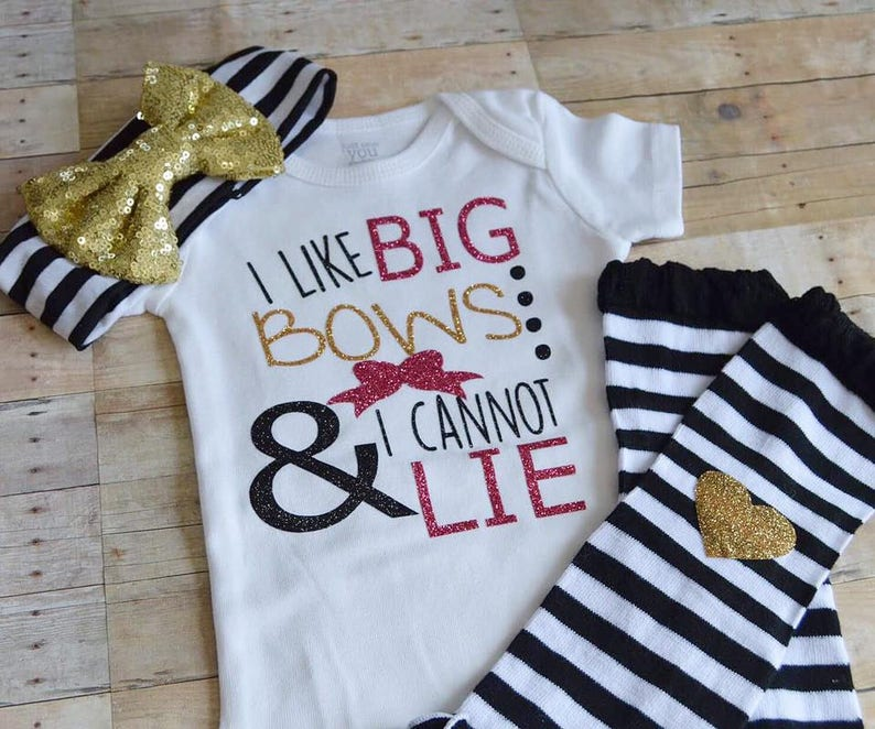 244ad3d72f4d Baby GIrl Bow Outfit Girls Big Bow Shirt Funny Baby Outfit