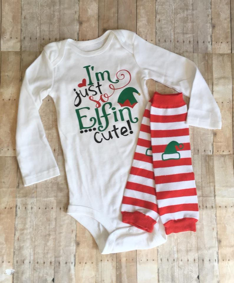 f1d565d1d1c Boys Christmas Outfit I'm Just So Elfin Cute Baby | Etsy
