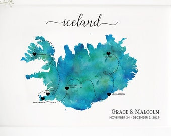 graphic relating to Printable Map of Iceland named Iceland map Etsy
