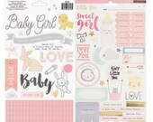 Crate Paper - Little You Girl - Gold Foiled Stickers - American Crafts 680393