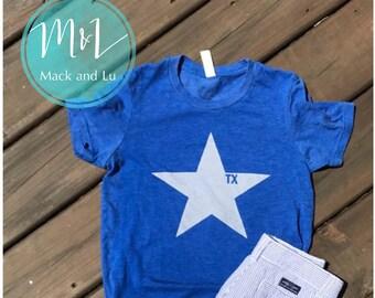 Texas Star Tshirt - Youth Blue