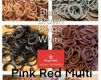 100 x HedHQ Rubber Dreadlock Dread Braiding Braid Bands Synthetic Dreads High QUALITY Fast DISPATCH and SHIPPING Various Colours