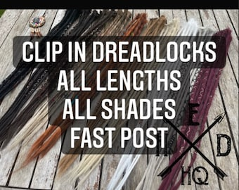 Single Double or Quad Clip-in Handmade Synthetic Dreads Dreadlocks Accent Set of Clips Clip - Various Colours Combinations Fast Dispatch