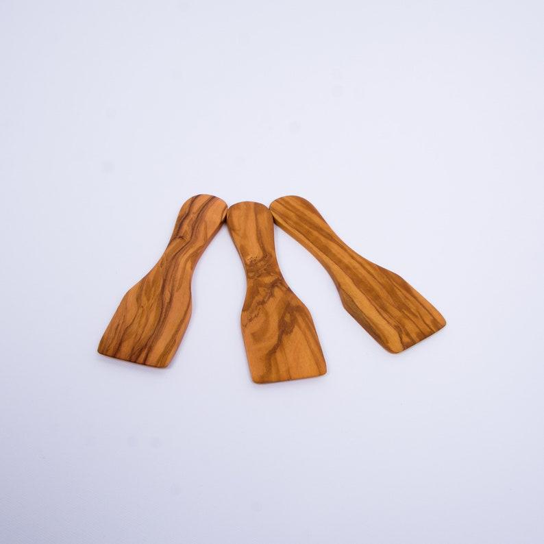 set of 3 Olive Wood Small Spatulas  Kitchen Utensils Wooden Raclette Spatula 13.50 cm  5.90 Handmade Wooden Spatula  Scraper