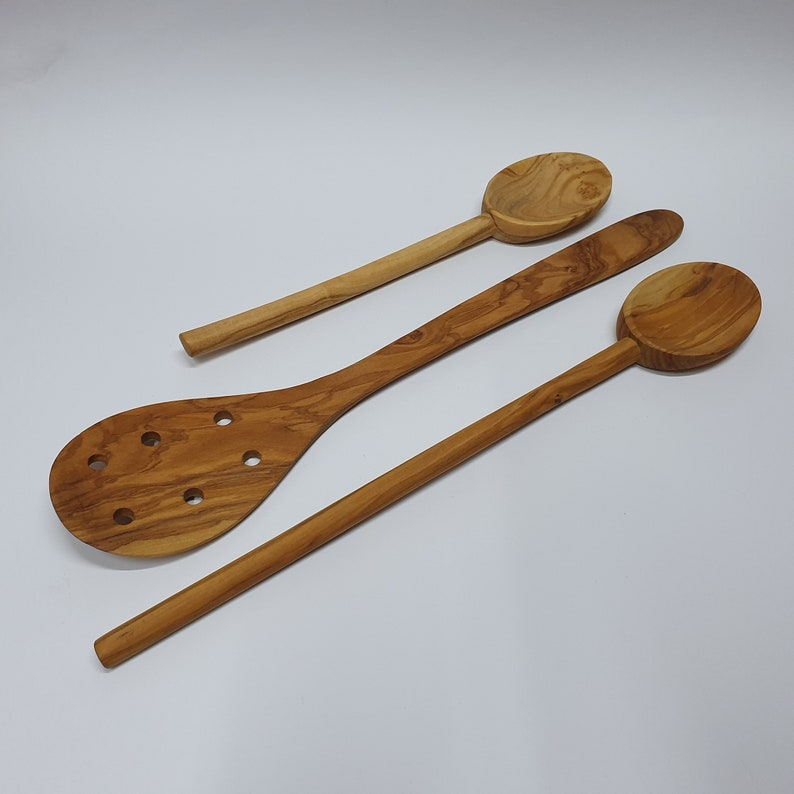 Large Wooden Spatula With 6 Holes Large Olive Wood Spoon Standard Spoon Free Delivery You Will Get What You See D60