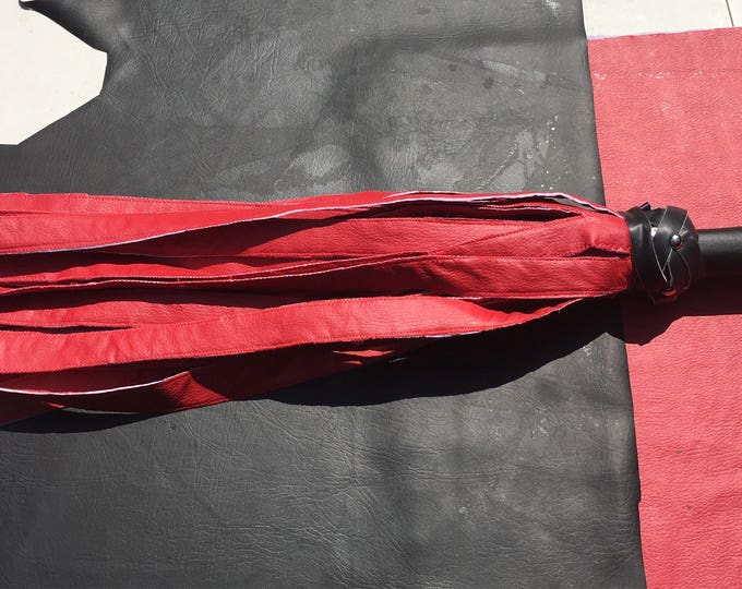 Red #Vegan #Flogger - ultrasoft for the DOm/Domme who want to punish to ectasy #BDSM #femdom #findom