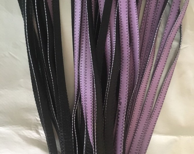 Vegan Leather BDSM Purple and Black Flogger for Femdoms, Submissives