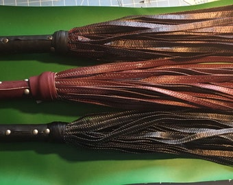 vegan leather electrified flogger - #violetwand #femdom #findom #BDSM #electroplay #sextoy #vegan #leather