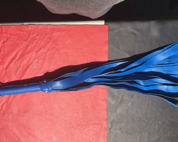 A #Vegan Superman Blue #Flogger - femdom BDSM S&M flogging spanking domme dominant dom corporal punishment