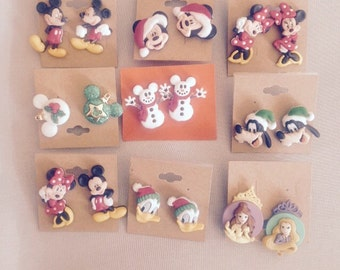 Disney Earrings for your Disney Princess - Mickey Mouse - Minnie Mouse - Donald Duck