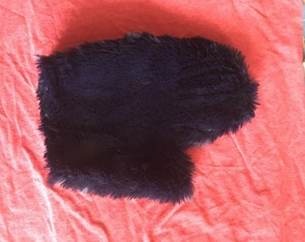 Vegan Spanking Mitt - Sensation play with Fake Fur Great for Spanking and Soothing