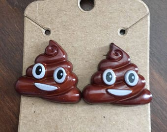 Perfect Earrings for Shitty Friends - emoji - poop emoji
