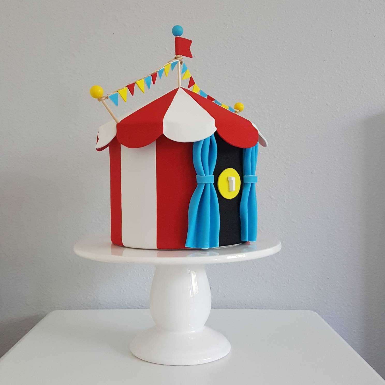 & Circus carnival tent cake topper/ centerpiece