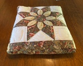 Comforter Pillow Handmade Quilt - Clever and Compact Design Beautiful Autumn Colors