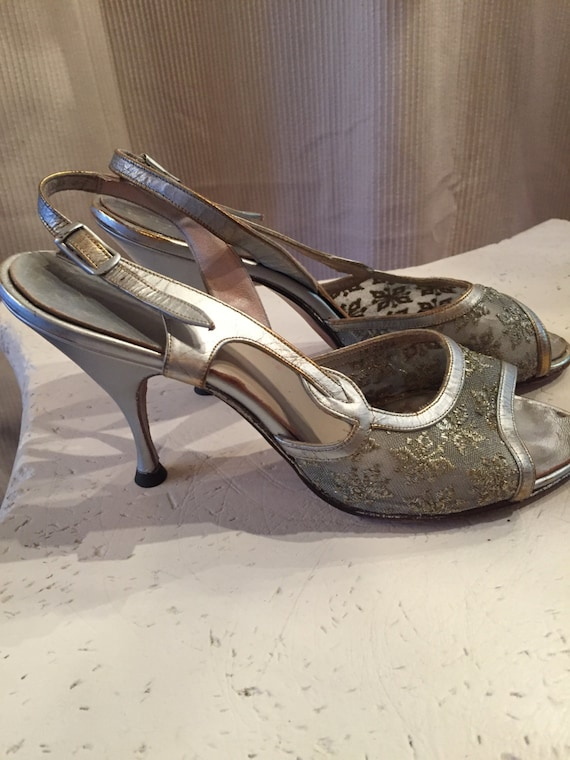 Silver Open Toe Sandal Silver Pewter Hand Made Leather And Etsy