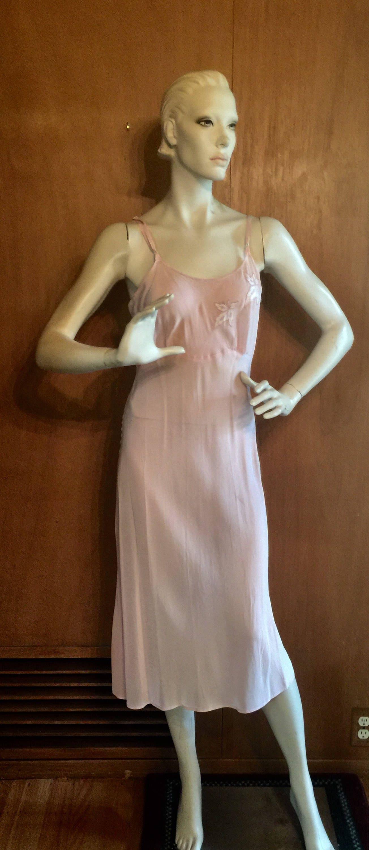 1950s Hats: Pillbox, Fascinator, Wedding, Sun Hats Pale Rose 1950s Negligee Nightgown Slip Dress Medium $0.00 AT vintagedancer.com