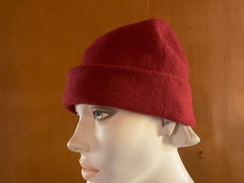 Wool Skull Cap Beanie  Small to Medium Contempo Casurals circa 1980s Slouchy Hat