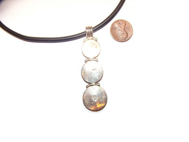 sterling jewelry Vintage 950 Sterling mother of pearl pendulum Necklace boho jewelry gift for her MOP necklace Sterling silver necklace
