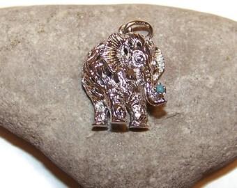 Vintage Sterling Elephant Charm, Elephants, Charms, Sterling silver charms, Luck Charm, Good Luck charms