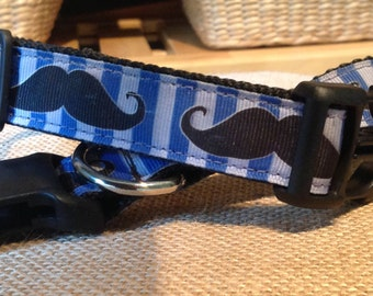 Mustache Adjustable Dog collar