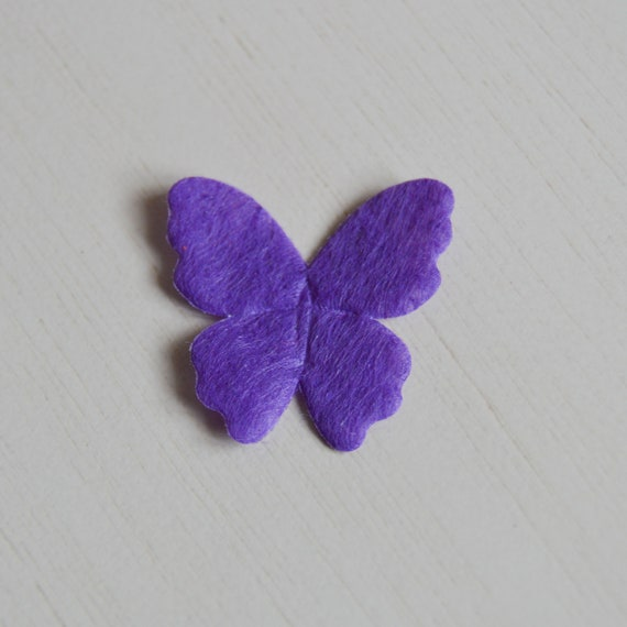 Butterfly applique/patch/badge in felt to repair the garment, scrapbooking,  customization and personalization 2 6 cm * 2 6 cm
