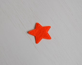 Star in felt to repair the garment, scrapbooking, customization and personalization 2.6 cm * 2.6 cm