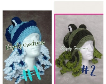 9a033da6aac Choose your color crochet octopus hat beanie