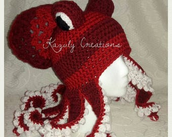 dff6877739a Choose your color crochet octopus hat beanie