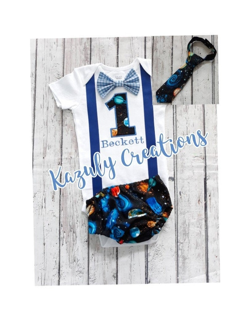 birthday planets smash cake outfit boy boy cake smash outfit Embroidered first second birthday space boy outfit birthday boy outfit
