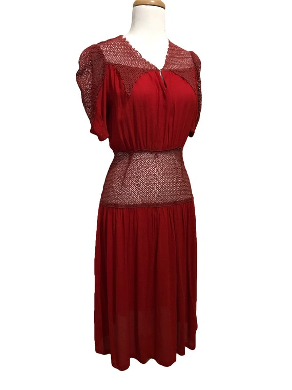 1940's Sweet Heart Dress * See Through Mesh *