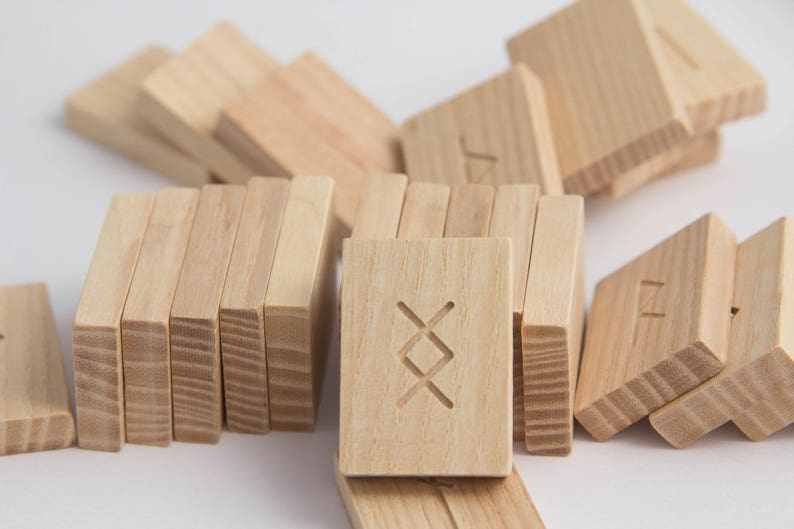 Wooden blanks for the runes A set of 30 pieces Wooden Tiles Small Craft Blanks Wood pieces Craft Wood blanks Wood Shapes Wooden rectangle