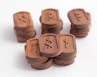 Gift runes Set wooden runes Elder Futhark Nordic wooden runes Divination carved wood runes Runic magic Divination Tools Esoterics