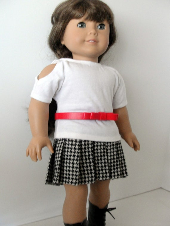 Cute 3pc skirt outfit for 18 dolls