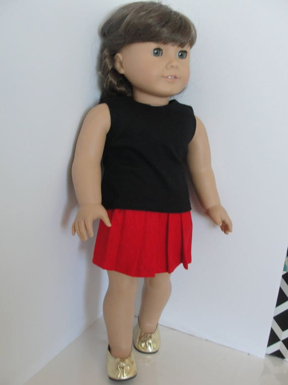 Fashion Handmade Doll T shirt Pant Clothes Suit for 18inch Doll Children Gift N~