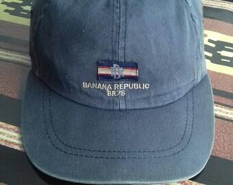 48911213c7d8e Rare vintage cap banana republic made in usa size S M velcro style