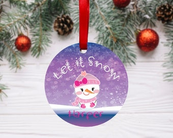 snow-woman Custom Snow People Ornaments snowboy snowgirl Hand-knit Christmas Ornaments w Snowman personalized mini sweater ornaments
