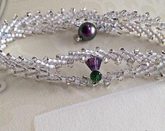 Scottish Thistle Bracelet: Wedding, First Communion, Burns Supper, St Andrew's Day