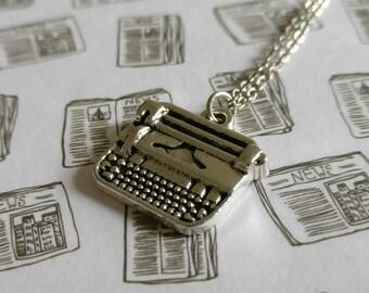 Typewriter. Necklace.