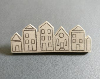 Houses // City. Brooch.